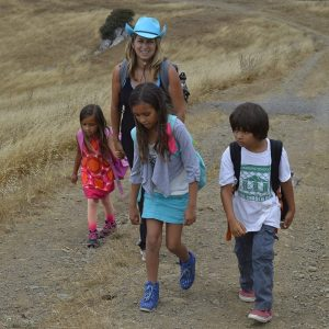 wendy with blue hat and kids