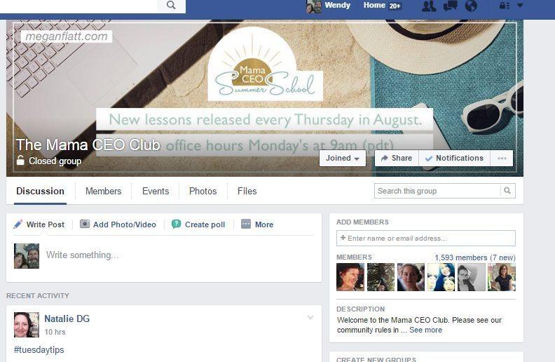 Future Bright | Megan Flatt's Mama CEO Facebook Page | Future Bright |