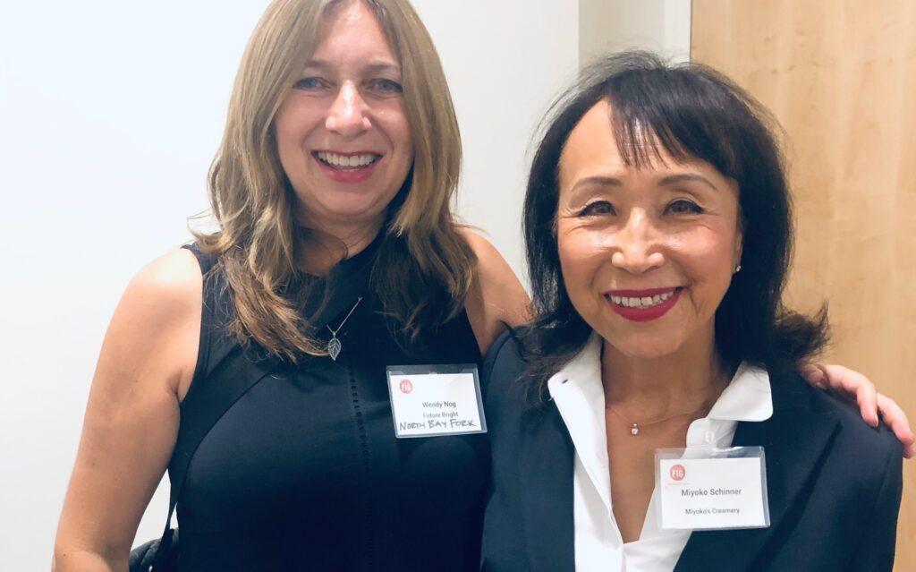 Future Bright Founder Wendy Louise Nog with Miyoko Schinner, founder of Miyoko's Vegan Cheeses